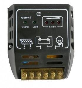 Töltésvezérlő, 12 V/24 V 6A - illusztráció - Hordozható, nagyteljesítményű Napelemes töltők