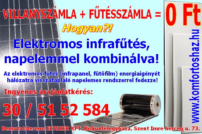 Elektromos fűtés Napelemmel - Komfortos Ház - Energiatakarékos megoldások otthonához
