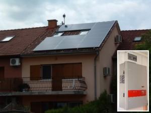 Helyén a 15 db 240 Wp-s napelem, melyek egy Fronius inverterrel kapcsolódnak a hálózatra