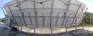 Panorámakép - szép kábelvezetés, az inverter takarásban bal oldalon.