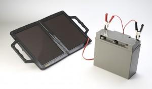 PV-Logic 12V/4W Napelemes töltő, kis akkumulátorral