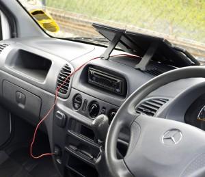 PV-Logic 12V/4W Napelemes töltő, gépkocsiban