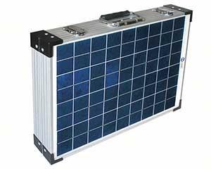 PV-Logic hordozható Napelemes készlet bőröndben, 40Wp