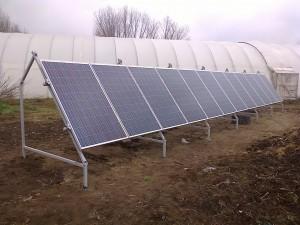 Petőfiszállás, tanya - 3 kW-os napelem rendszer - a kiépített rendszer