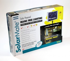 Solar Mate 10W-os Napelemes világítás, dobozban